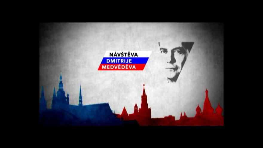 Video Události o příletu Dmitrije Medvěděva do Prahy