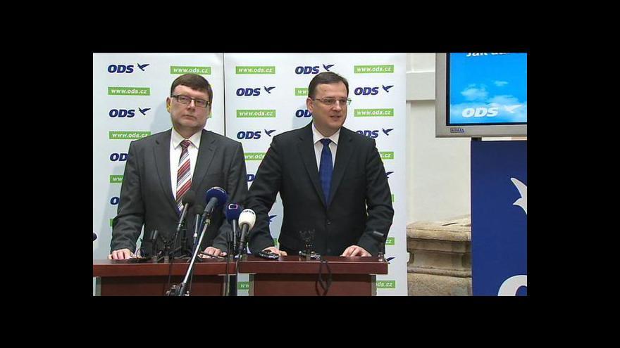 Video Brífink ODS k rozpočtovému určení daní