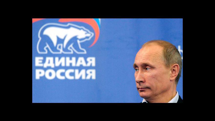 Video Putinova strana zaznamenala propad voličů