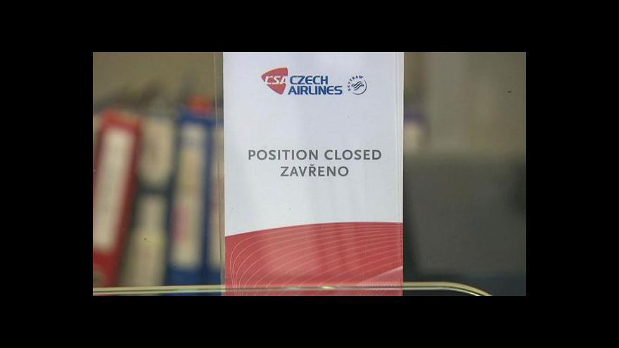 Video ČSA má opustit třetina pilotů