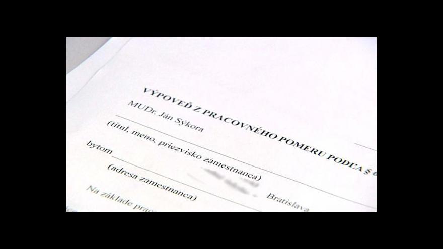 Video Slovenští lékaři dali výpověď