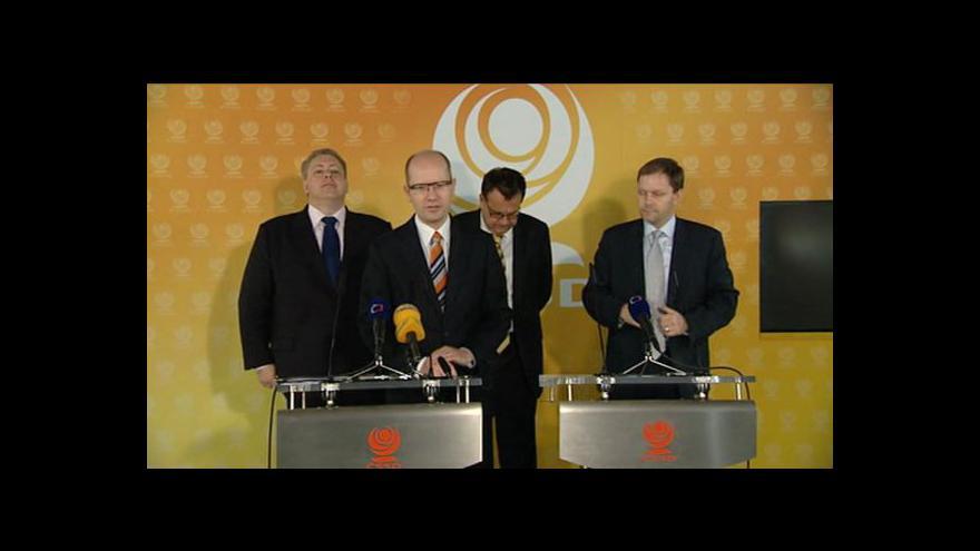 Video Brífink ČSSD k vládním reformám