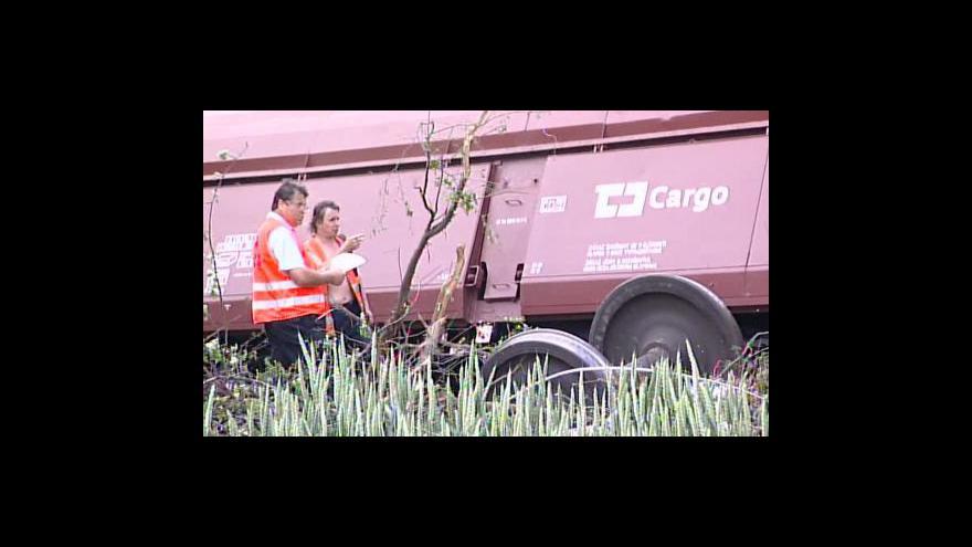 Video SŽDC k nehodě u Vyškova
