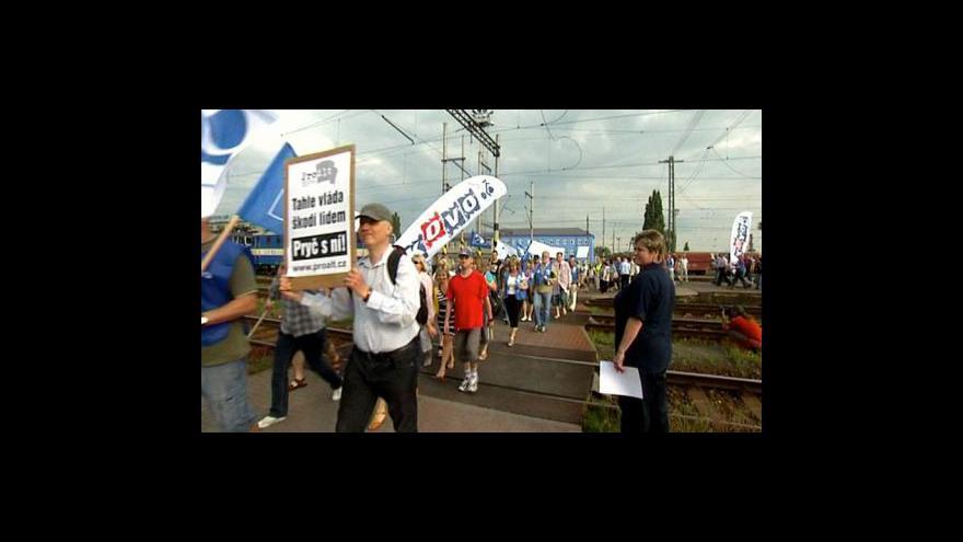 Video Česko ve znamení stávky