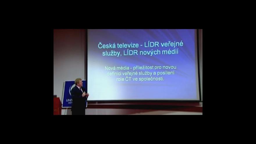 Video Vystoupení Milana Fridricha z ČT Nová média