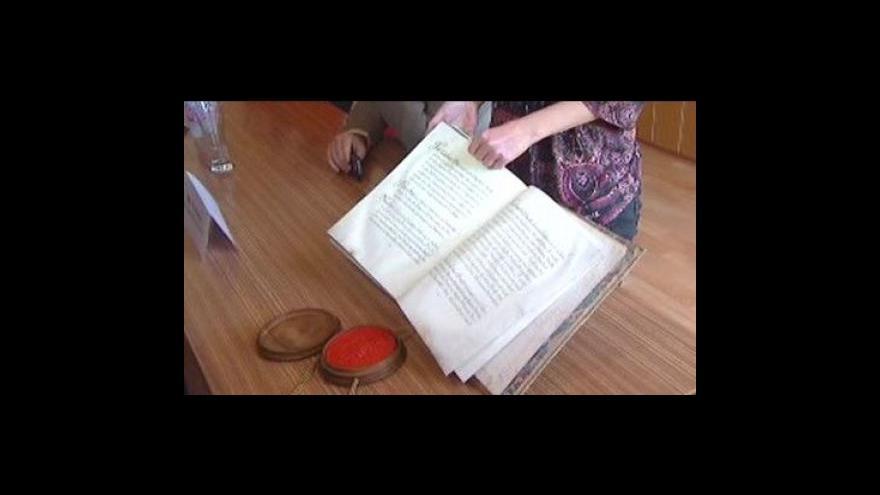 Video Vzácná kniha byla znovu nalezna