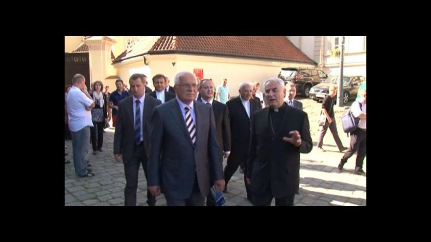 Video Návštěva Václava Klause v Brně