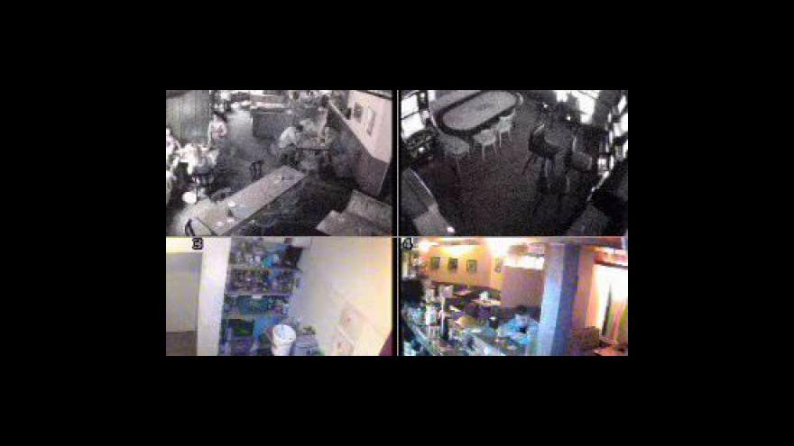 Video Záběry pachatele z bezpečnostních kamer
