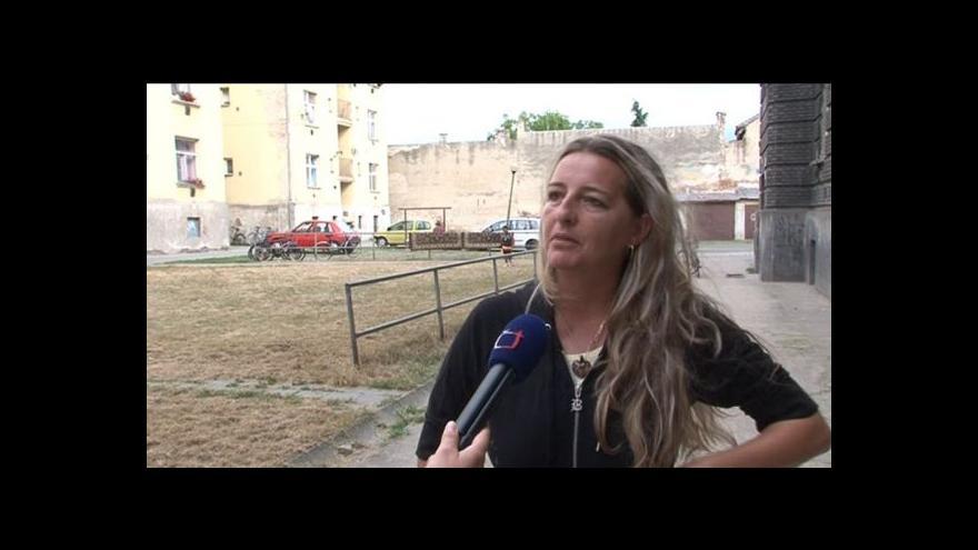 Video Obyvatelka Riegrovy ulice v Břeclavi o situaci v ulici