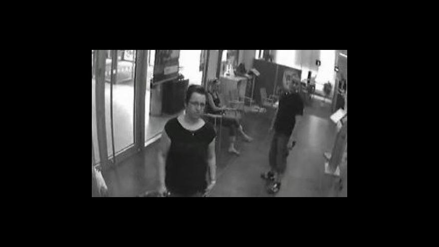 Video Podvodnice na záběrech z průmyslové kamery