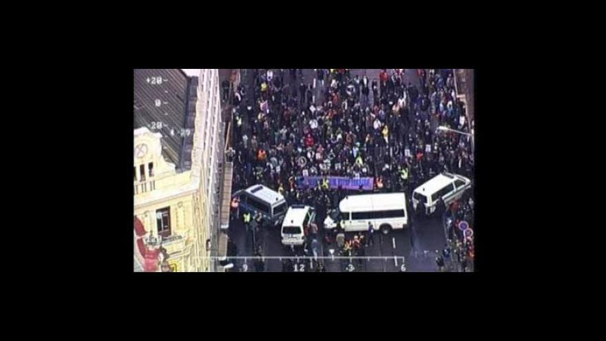 Video Záběry z policejního vrtulníku