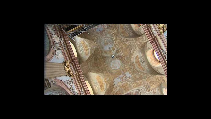 Video RestaurátorkaRestaurátorka Alena Moravcová o stavu stropní fresky