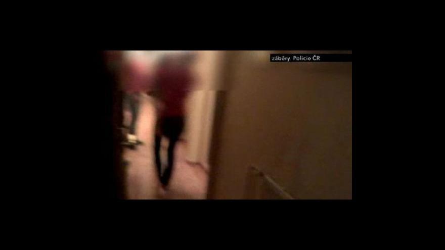 Video Policejní záběry ze zásahové akce