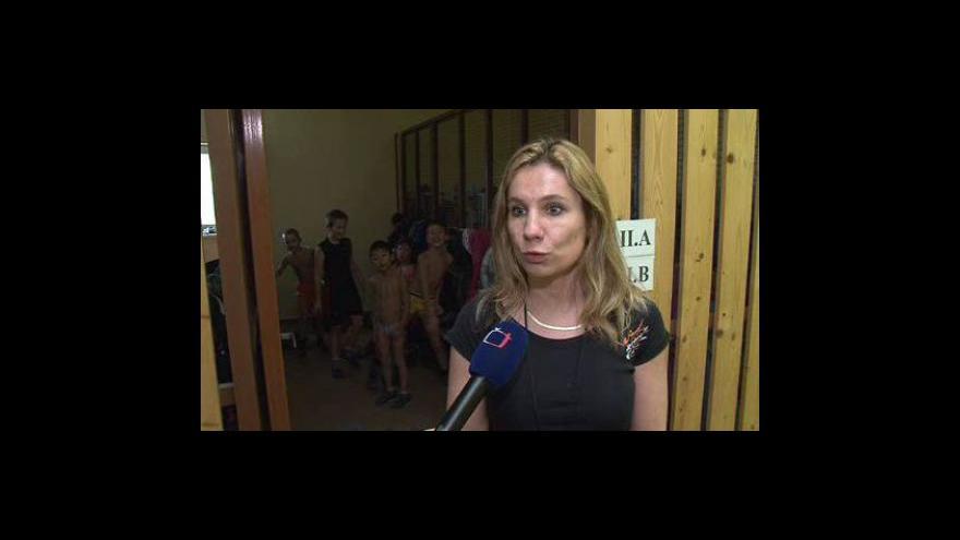 Video Děti ze znojemské ZŠ Jubilejní park se otužují každý den