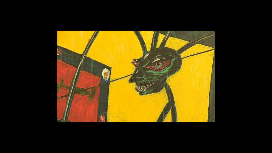 Video Boris Jirků na vernisáži své výstavy