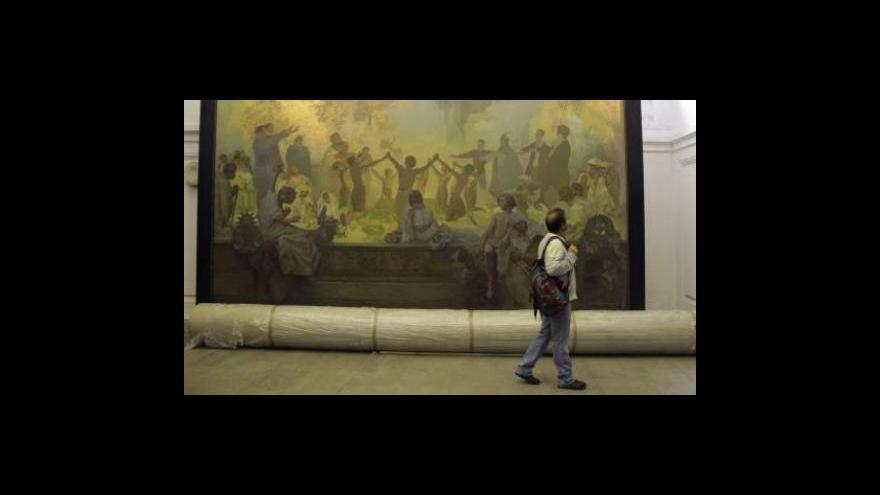 Video Události, komentáře o Slovanské epopeji