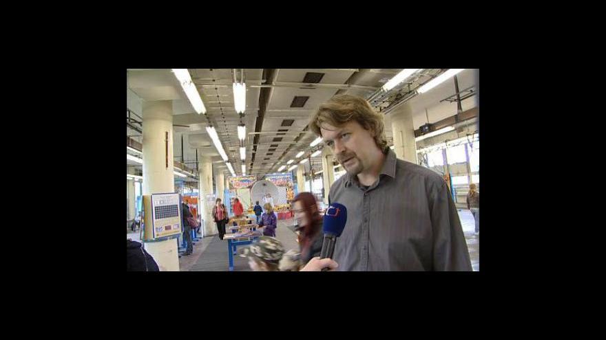 Video Pořadatel František Duda o výstavě Hry a klamy