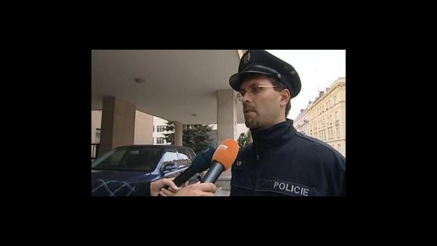 Video Policejní mluvčí Pavel Šváb k případu (policejní záběry)