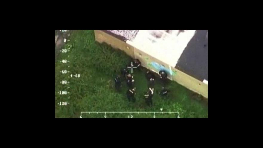 Video Záběry pátrací akce z policejního vrtulníku