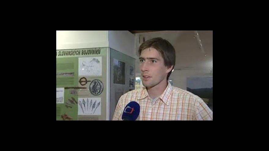 Video Archeolog Ivan Čižmář o výstavě nálezů z kopce Klášťov