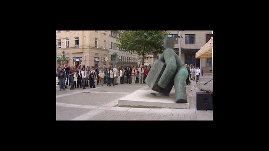Video Slavnostní odhalení sochy Spravedlnosti