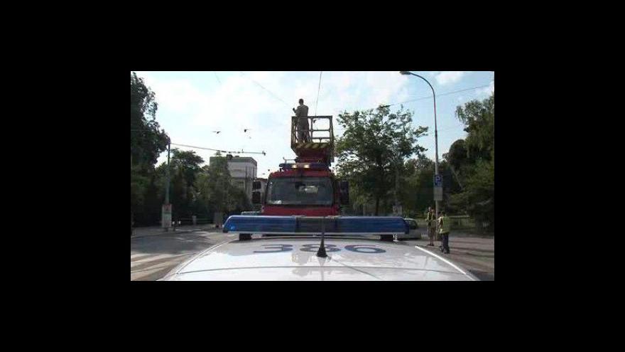 Video Centrum Brna zablokovala porouchaná tramvaj
