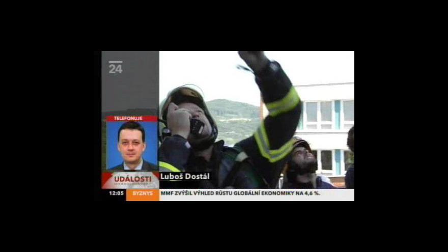 Video Požár bytového domu ve Zlíně