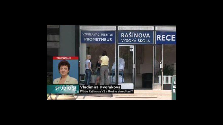 Video Rozhovor s Vladimírou Dvořákovou, předsedkyní Akreditační komise Ministerstva školství ČR