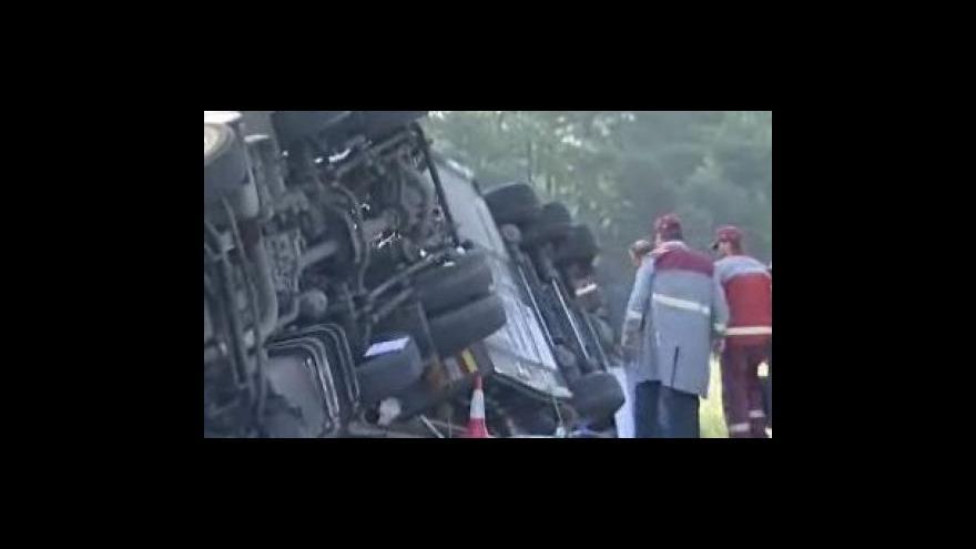 Video Ivo Mitáček (tiskový mluvčí zlínských hasičů) o nehodě cisterny s naftou