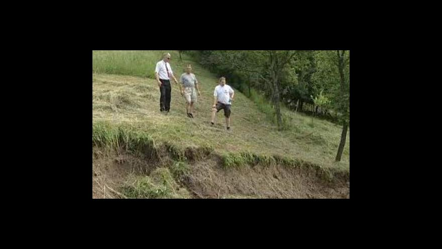 Video Starosta Luhačovic František Hubáček o sesuvu půdy v obci