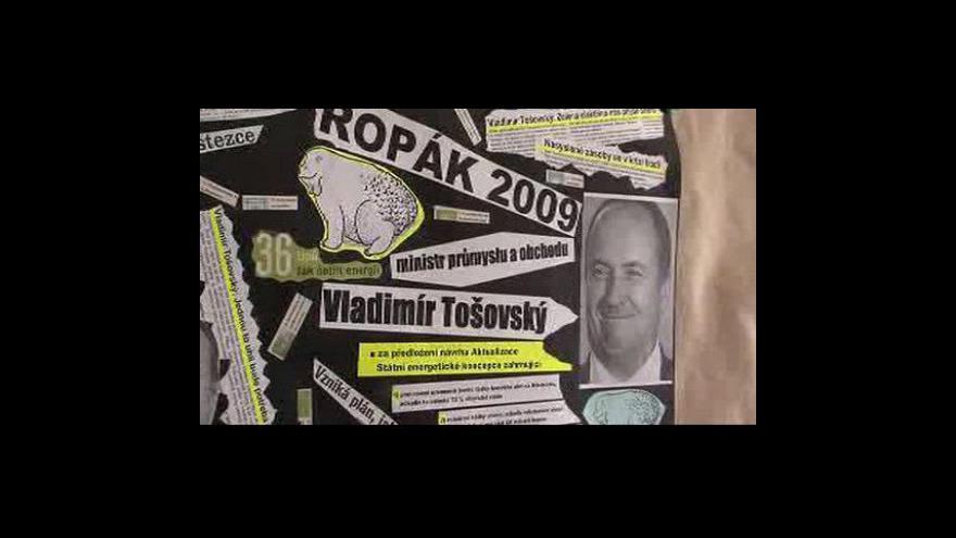 Video Děti Země vyhlásily ocenění Ropák roku 2009