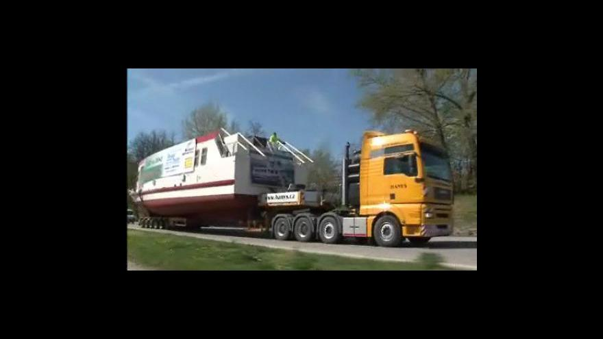 Video Převoz parníku Lipno na brněnskou přehradu