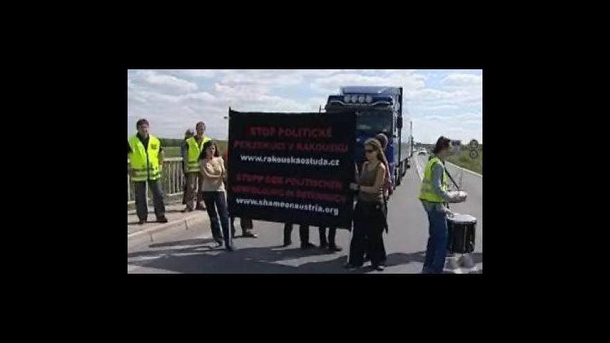 Video Studio ČT 24 k blokádě hraničního přechodu v Mikulově