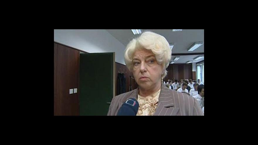 Video Helena Vyroubalová, předsedkyně odborů v OP Prostějov