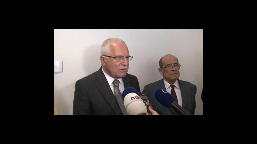 Video Prezident Václav Klaus o práci ombudsmana
