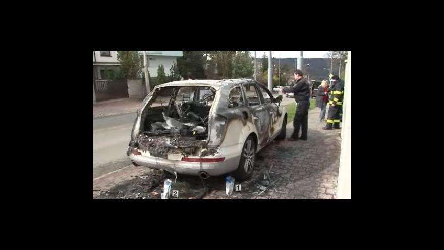 Video V Brně shořelo Audi za milion a půl, případ šetří policie