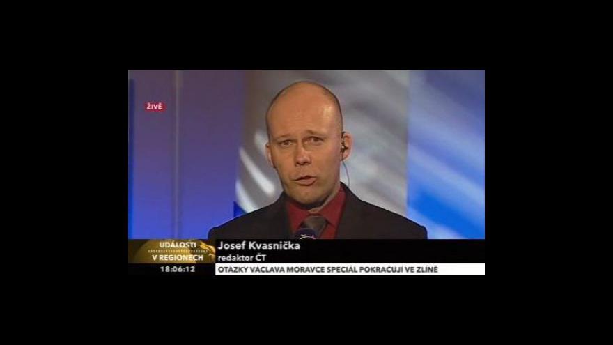 Video Josef Kvasnička o předvolební debatě ve Zlínském kraji