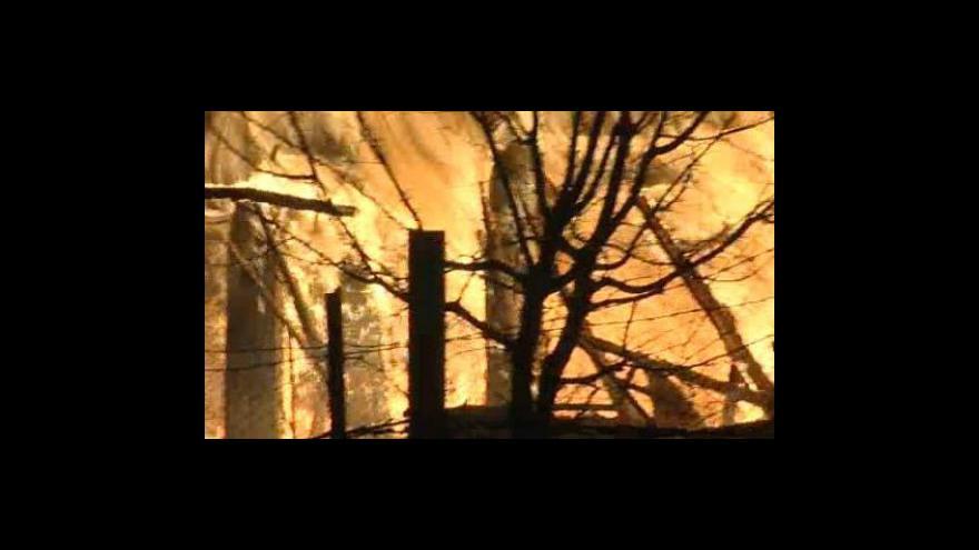 Video No comment - Požár v Tečovicích a jeho následky