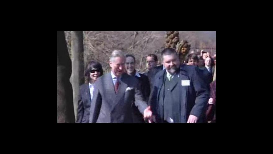 Video princ Charles při návštěvě Hostětína