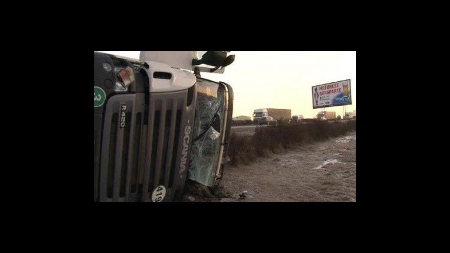 Video Svědek dopravní nehody na D1
