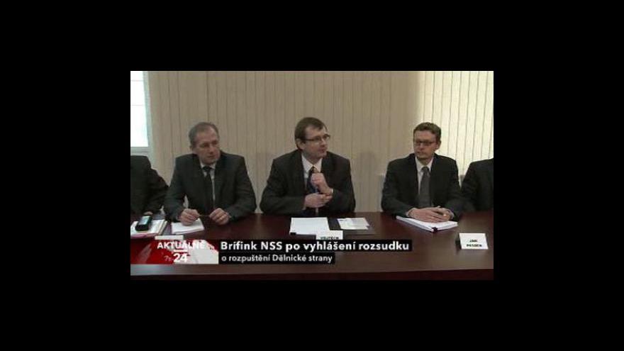 Video Brífink NSS o rozpuštění Dělnické strany
