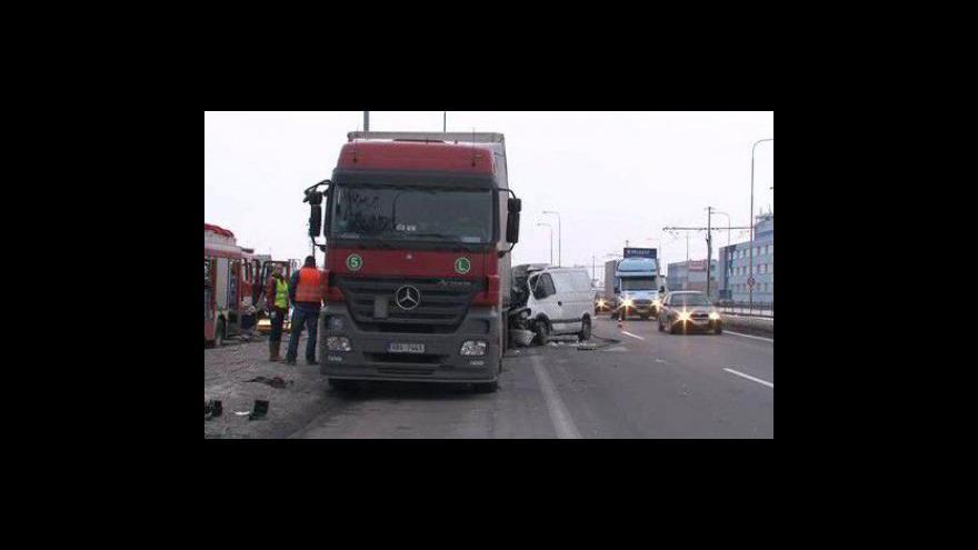 Video Při nehodě dodávka zahynula spolujezdkyně