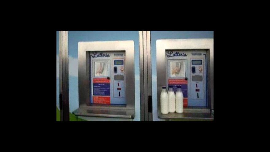 Video První mlékomat v Brně (záběry z mobilního telefonu)