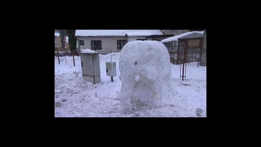 Video Sněhové sochy v Držkové na Zlínsku