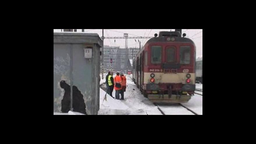 Video Nehoda na vlakovém nádraží v Brně