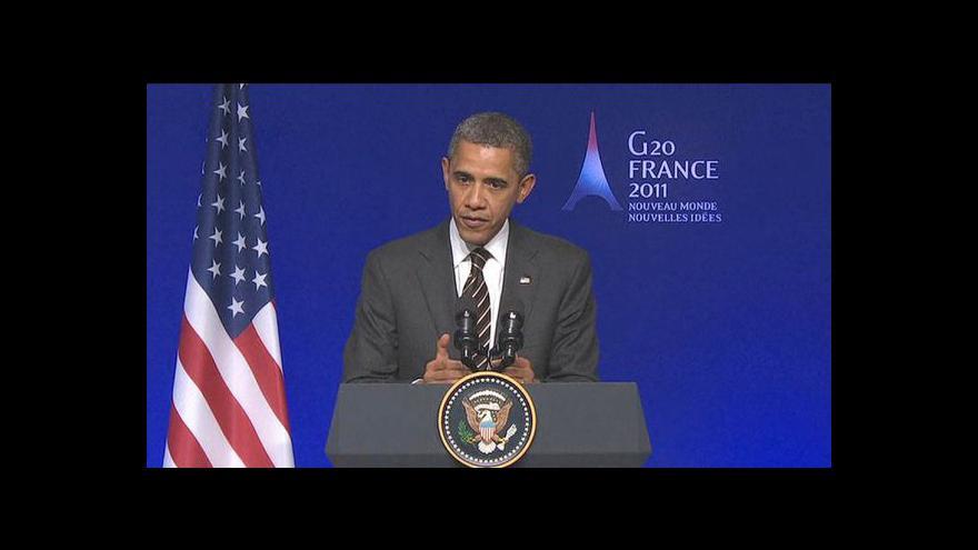 Video Projev Baracka Obamy na G20