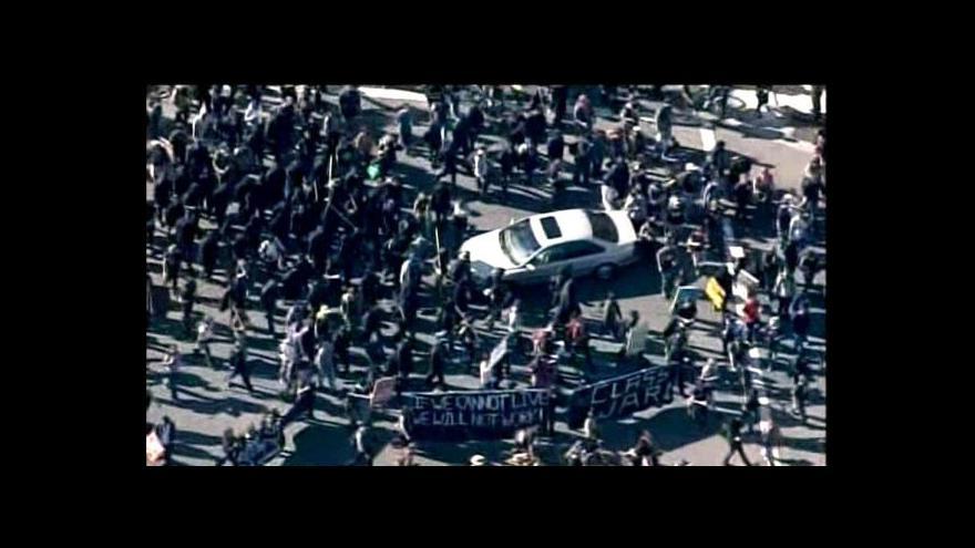 Video Protesty v Oaklandu zablokovaly přístav