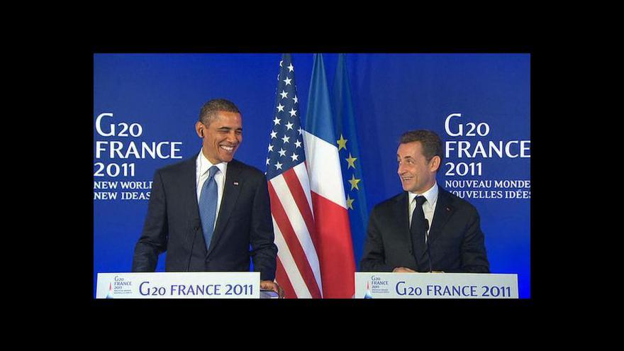 Video Vyjádření Baracka Obamy a Nicolase Sarkozyho