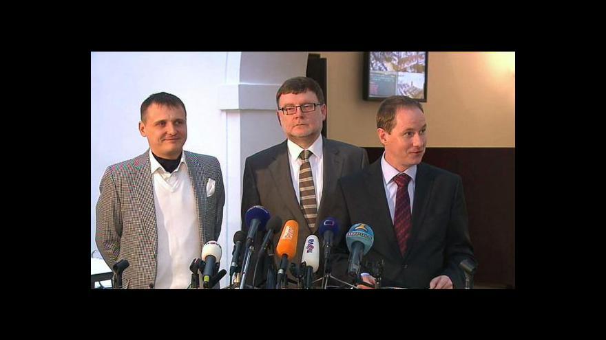 Video Brífink předsedů koaliční poslaneckých klubů