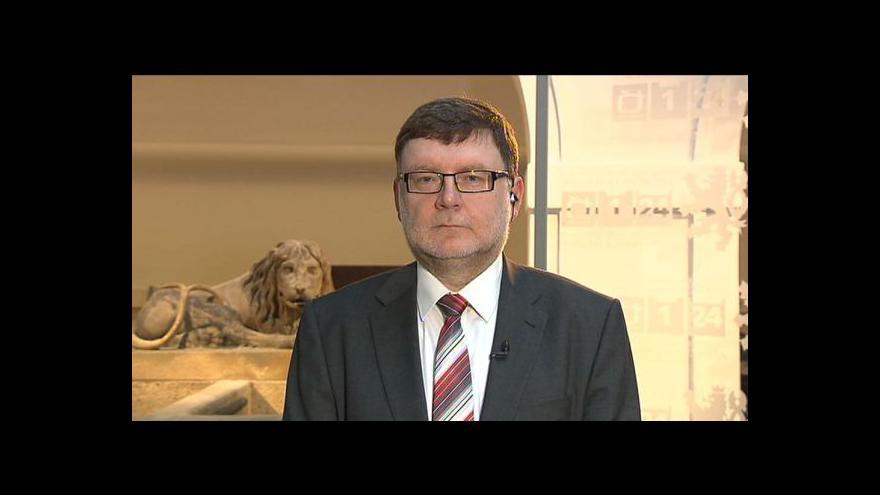 Video Zbyněk Stanjura ve Studiu ČT24